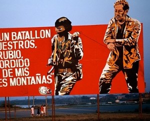 Billboard Depicting the Capture of CIA Employee Eugene H. Hasenfus in Nicaragua