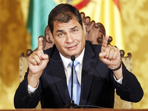 The machinations were part of a plan to topple current Ecuador President Rafael Correa, who is unpopular in Washington.